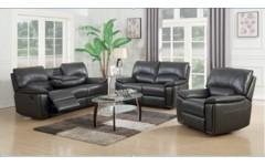 Кожаный серый раскладной диван Витни, Джос