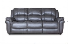 Кожаный раскладной диван Милтон 60108 в цвете серый металик, Джос
