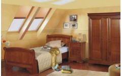 Деревянная кровать 1400 с твердым изголовьем Алма, Мобекс