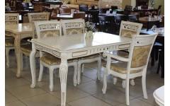 Белый классический стол с позолотой Классик 07, Китай