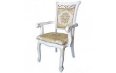 Белый мягкий стул с подлокотником 8039 DP (S), Китай
