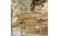 Белый круглый обеденный стол Прованс