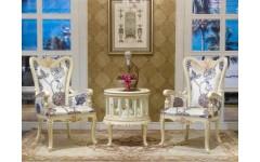Белый столик чайный с креслами Прованс, Китай
