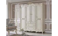 Белый резной шкаф 4 двери Прованс, Энигма
