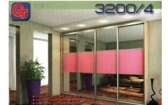 Розовый шкаф-купе в стиле модерн