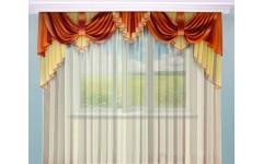 Классические шторы с ламбрекенами для гостиной