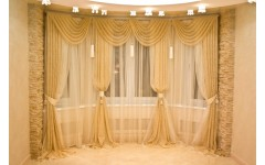 Красивые шторы из органзы для гостиной