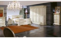 Белая классическая мебель для спальни Верона, WOOD