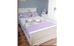 Белая кровать в детскую комнату из натурального дерева Симекс Румыния