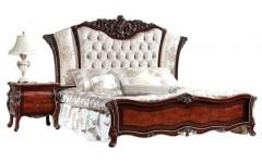 Элитная кровать в резным изголовьем в спальню Сусанна Китай