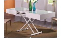 Белый раскладывающийся стол трансформер B2392, Китай