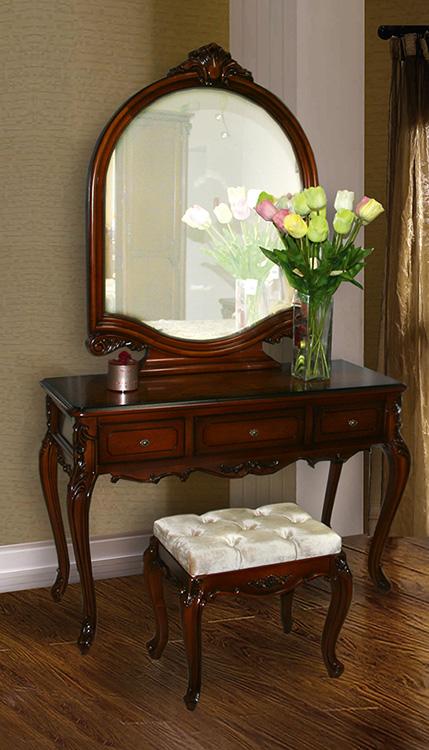 стол туалетный с зеркалом ЛВС и пуф