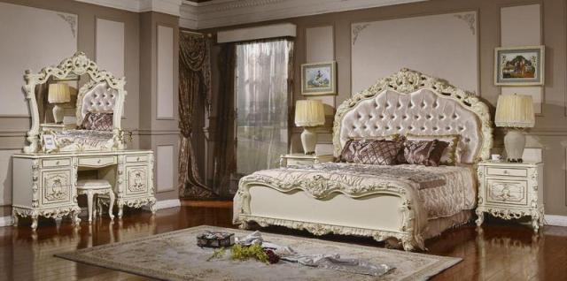 купить недорогую белую классическую королевскую спальня равенна