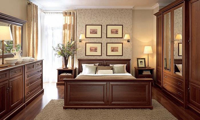 Купить деревянную мебель для спальни Париж, Украина в Киеве, Днепре,  Одессе, Львове, Виннице, Черкасах