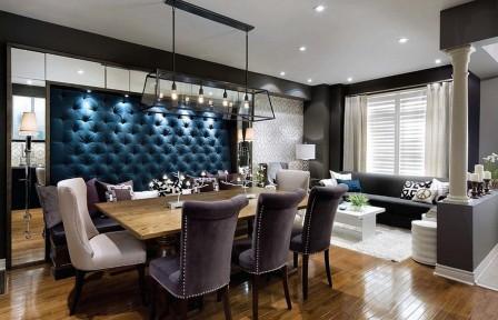 Мягкие стеновые панели для гостиной комнаты
