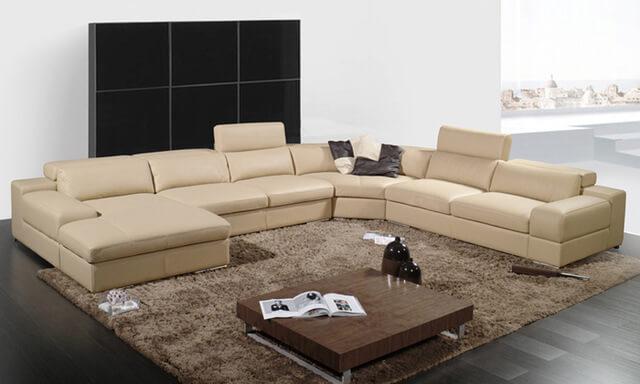 Большие угловые диваны для гостиной: фото и цены